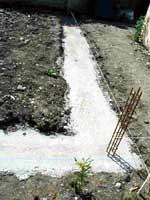 Fondation pour mur en parpaing